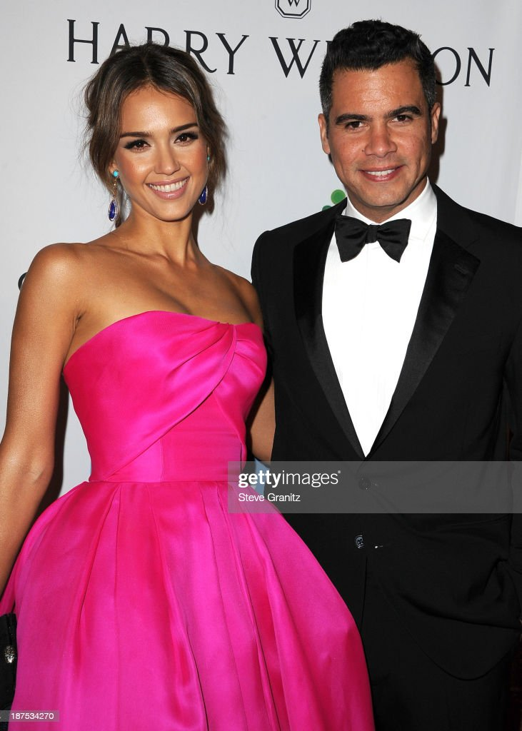 Jessica Alba and Cash Warren arrives at the 2nd Annual Baby2Baby Gala at The Book Bindery on November 9 2013 in Culver City California