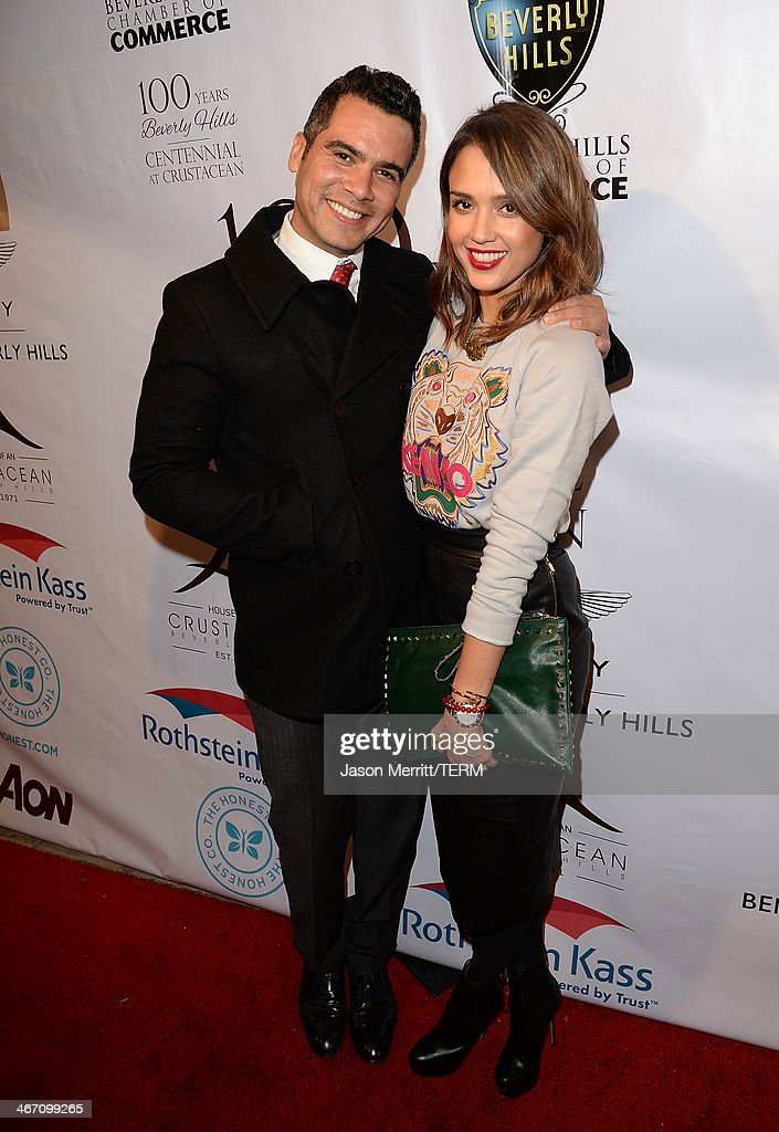 Jessica Alba and Cash Warren attend the EXPERIENCE East Meets West event hosted by the Beverly Hills chamber of commerce at Crustacean on February 5...