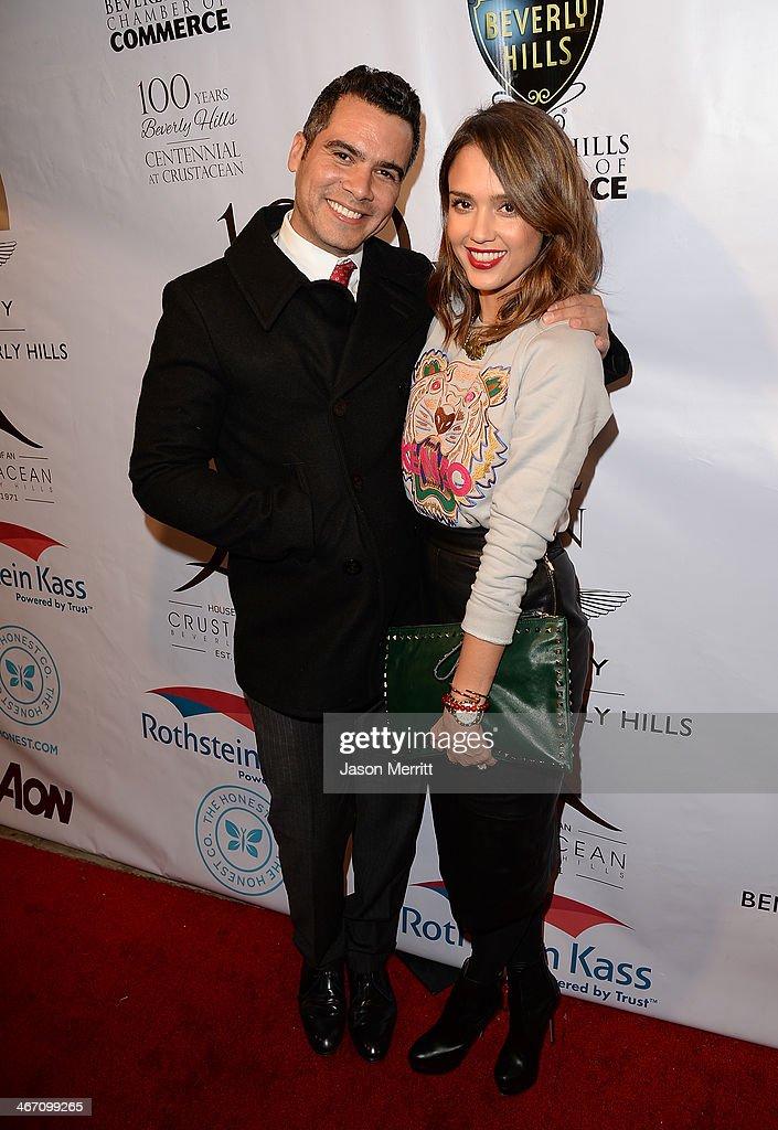 Jessica Alba and Cash Warren attend the