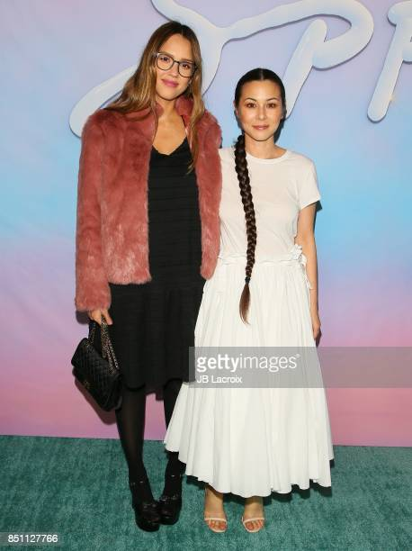 Jessica Alba and China Chow attend the premiere of Alex Israel's 'SPF18' on September 21 2017 in Los Angeles California