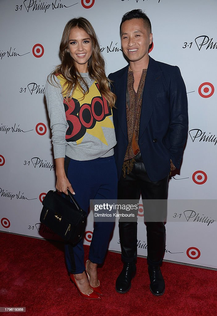 Jessica Alba and designer Phillip Lim attend the 3.1 Phillip Lim for Target Launch Event at Spring Studio on September 5, 2013 in New York City.