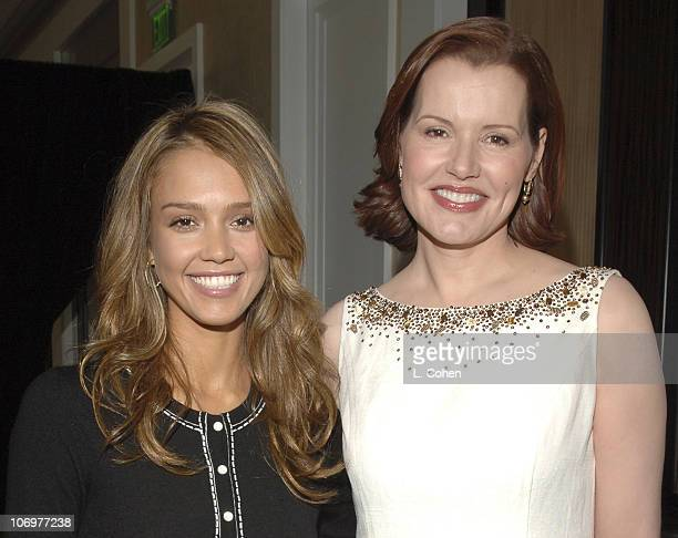 Jessica Alba and Geena Davis during StepUp Women's Network's 3rd Annual Inspiration Awards Inside in Los Angeles California United States
