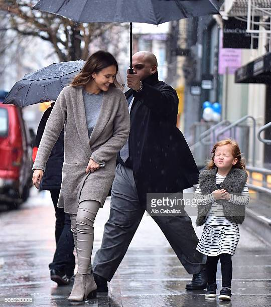 Jessica Alba and Haven Garner Warren are seen on February 3 2016 in New York City