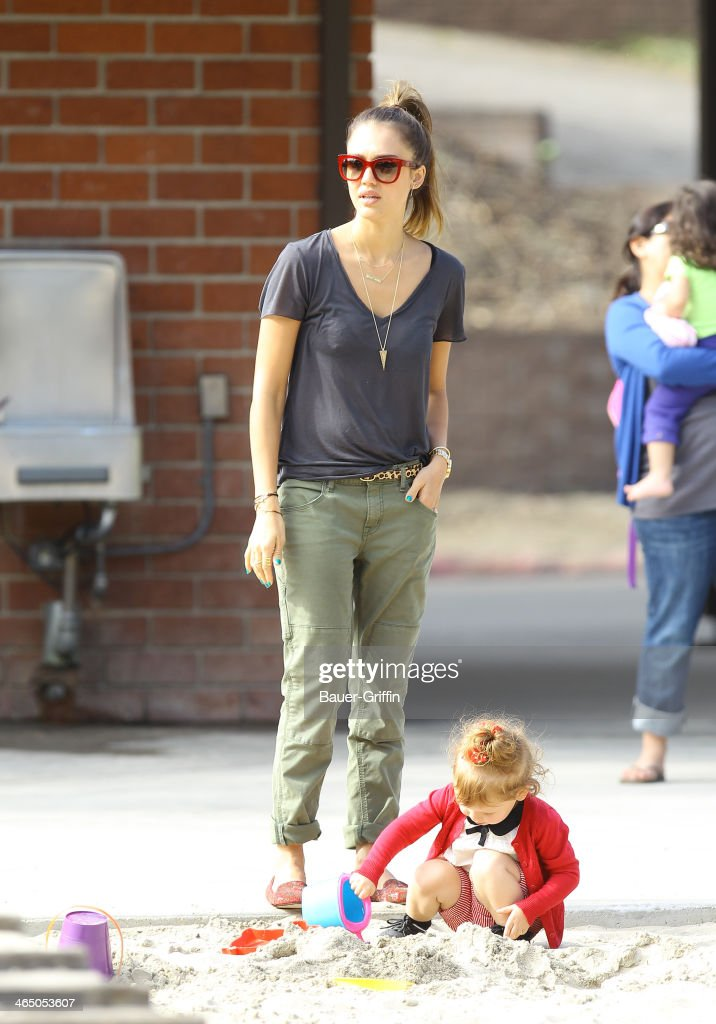 Jessica Alba and Haven Warren are seen on January 25, 2014 in Los Angeles, California.