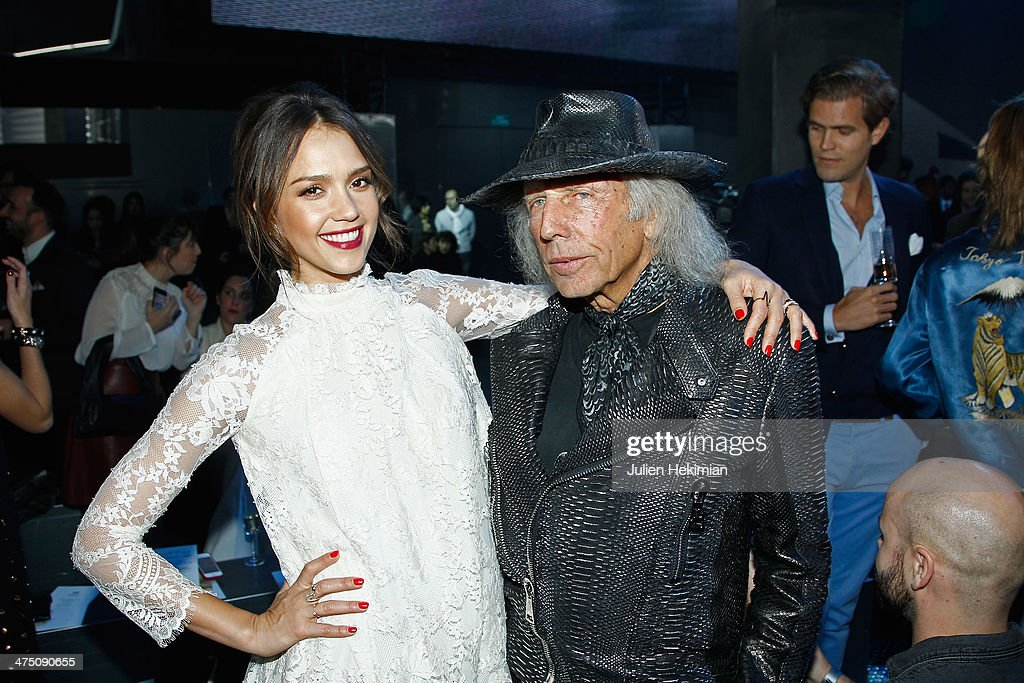 Jessica Alba and James Goldstein attend the H&M show as part of the Paris Fashion Week Womenswear Fall/Winter 2014-2015 on February 26, 2014 in Paris, France.