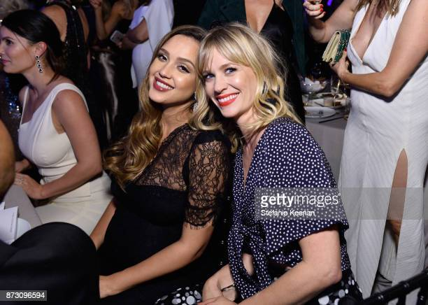 Jessica Alba and January Jones attend The 2017 Baby2Baby Gala presented by Paul Mitchell on November 11 2017 in Los Angeles California