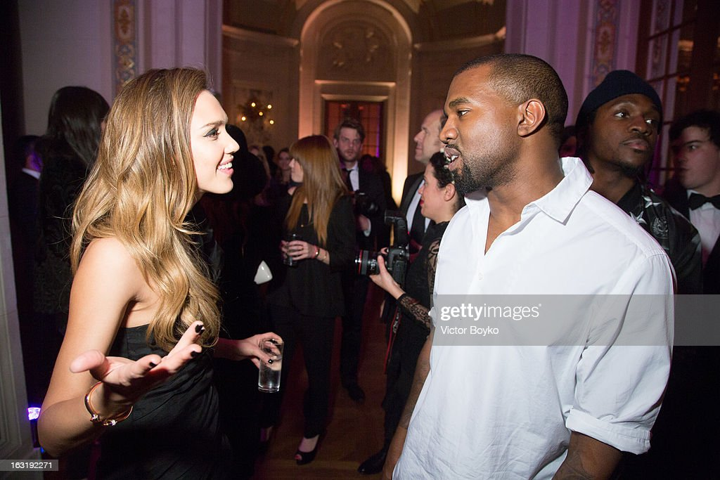 Jessica Alba and Kanye West attends 'CR Fashion Book Issue 2' - Carine Roitfeld Cocktail as part of Paris Fashion Week at Hotel Shangri-La on March 5, 2013 in Paris, France.
