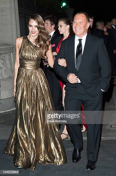 Jessica Alba and Michael Kors attends the after party for the 'Schiaparelli and Prada Impossible Conversations' Costume Institute exhibition on May 7...
