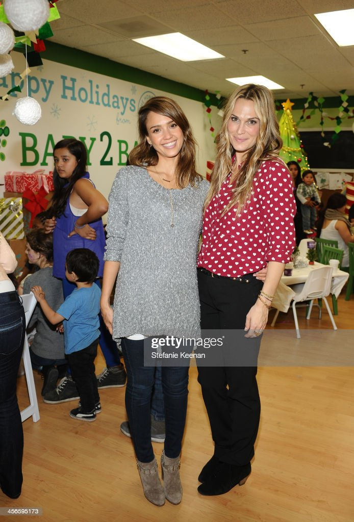 <a gi-track='captionPersonalityLinkClicked' href=/galleries/search?phrase=Jessica+Alba&family=editorial&specificpeople=201811 ng-click='$event.stopPropagation()'>Jessica Alba</a> (L) and <a gi-track='captionPersonalityLinkClicked' href=/galleries/search?phrase=Molly+Sims&family=editorial&specificpeople=202547 ng-click='$event.stopPropagation()'>Molly Sims</a> attend the Third Annual Baby2Baby Holiday Party presented by The Honest Company on December 14, 2013 in Los Angeles, California.
