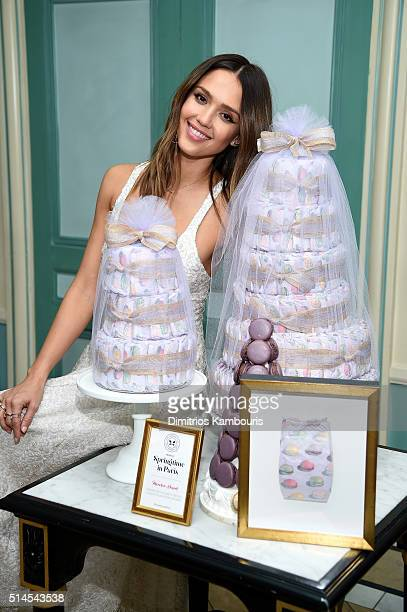 Jessica Alba and The Honest Company celebrate the launch of the Springtime in Paris Diaper Collection on March 9 2016 in New York City