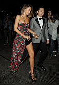 Jessica Alba arrives at Rihanna's Private Met Gala After Party at Up Down on May 4 2015 in New York City