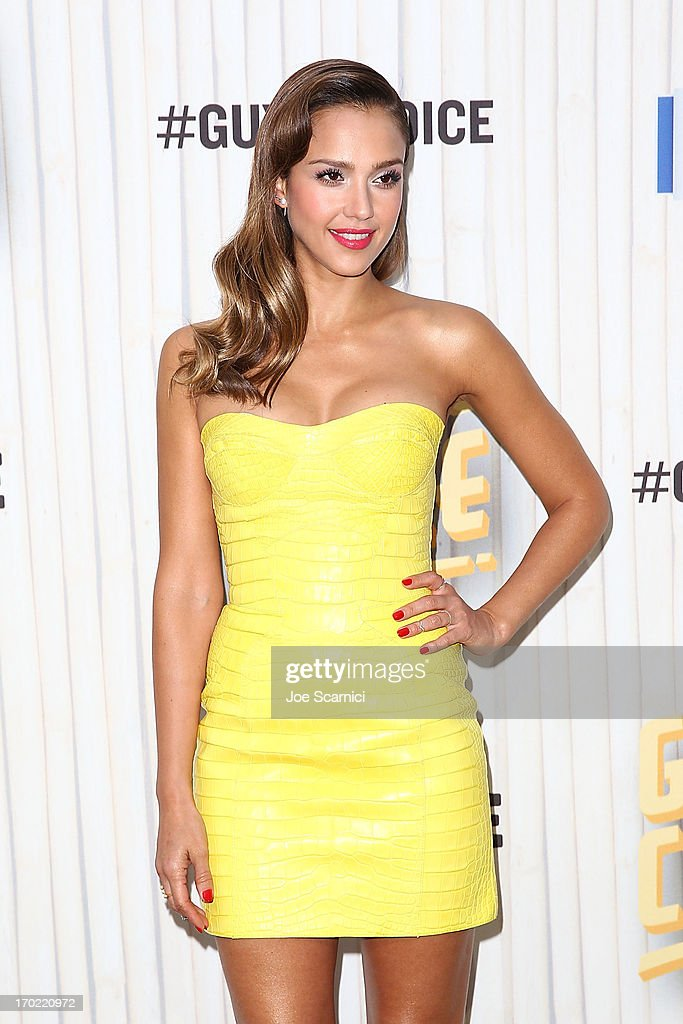 <a gi-track='captionPersonalityLinkClicked' href=/galleries/search?phrase=Jessica+Alba&family=editorial&specificpeople=201811 ng-click='$event.stopPropagation()'>Jessica Alba</a> arrives at the 2013 Spike TV 'Guys Choice' at Sony Pictures Studios on June 8, 2013 in Culver City, California.