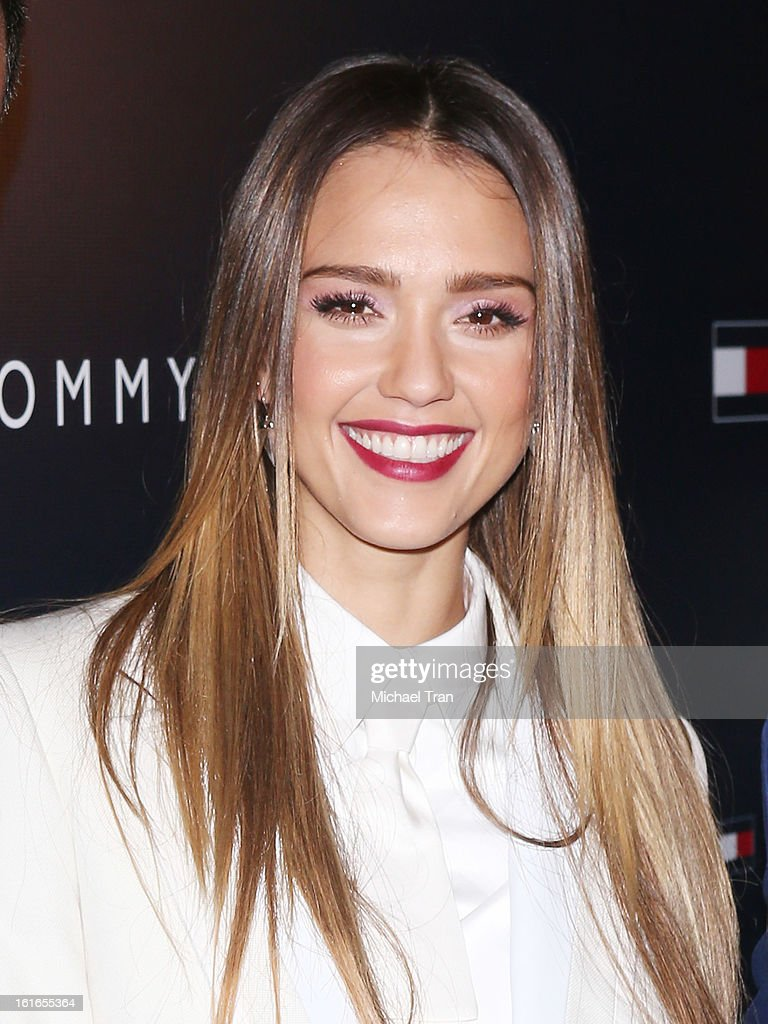 <a gi-track='captionPersonalityLinkClicked' href=/galleries/search?phrase=Jessica+Alba&family=editorial&specificpeople=201811 ng-click='$event.stopPropagation()'>Jessica Alba</a> arrives at the Tommy Hilfiger West Coast Flagship grand opening event held on February 13, 2013 in West Hollywood, California.
