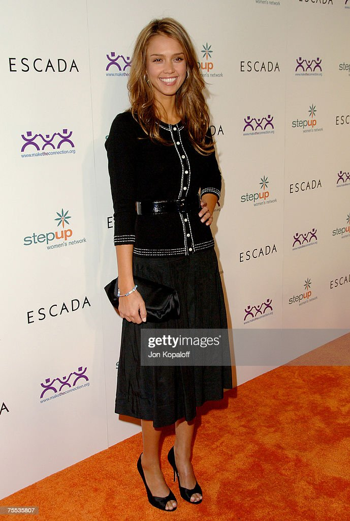 Jessica Alba at the Step Up Women's Network Inspiration Awards Sponsored by Escada - Arrivals at Beverly Hilton Hotel in Beverly Hills, California.