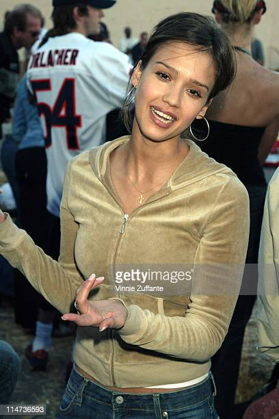 Jessica Alba attending the 2003 Cadillac Super Bowl Grand Prix at Ace Parking in San Diego CA 01/25/03