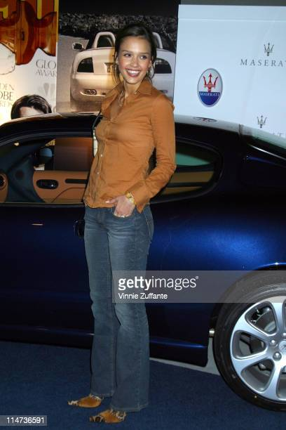 Jessica Alba attending the Maserati Golden Globe Weekend Party with the Pussycat Dolls at the Pacific Design Center in Los Angeles Ca 01/16/03