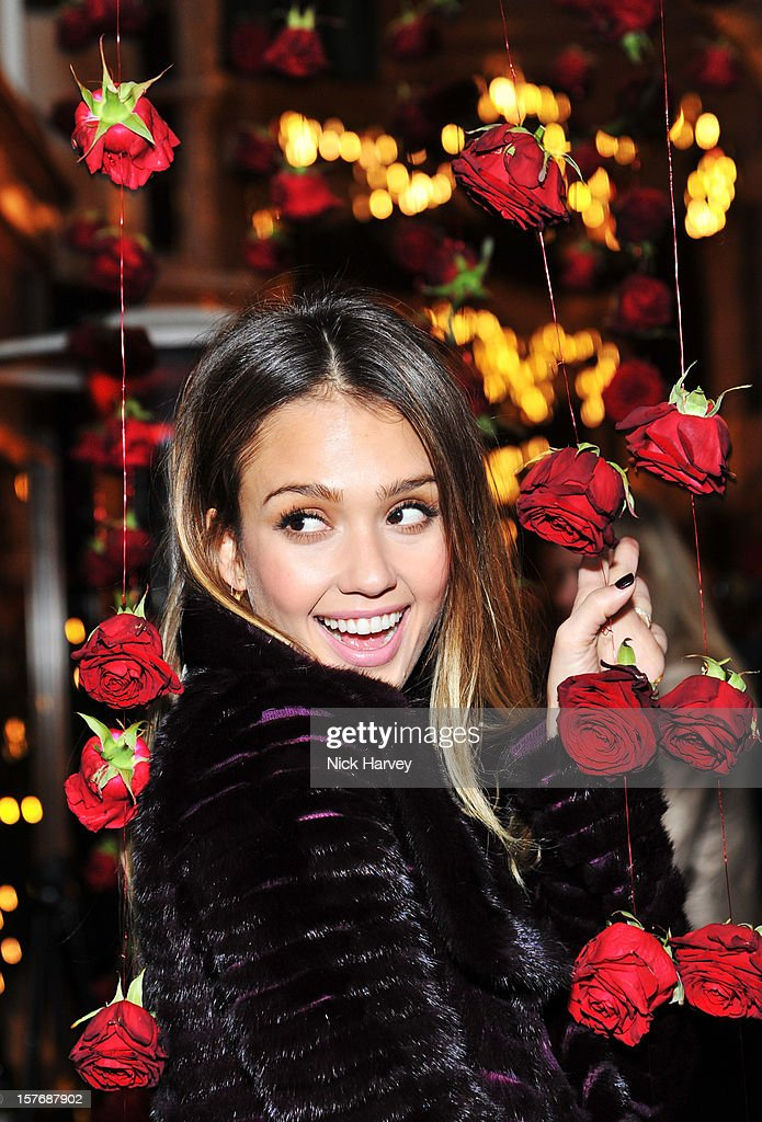 <a gi-track='captionPersonalityLinkClicked' href=/galleries/search?phrase=Jessica+Alba&family=editorial&specificpeople=201811 ng-click='$event.stopPropagation()'>Jessica Alba</a> attends a dinner at Burlington Arcade after the flagship store launch of Salvatore Ferragamo's Old Bond Street Boutique at 24 Old Bond Street on December 5, 2012 in London, England.