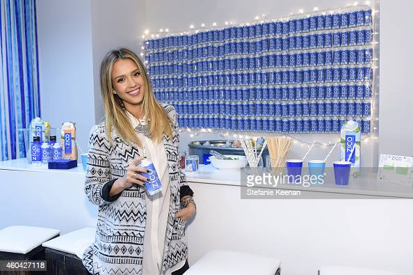 Jessica Alba attends Baby2Baby Holiday Party Presented By The Honest Company at Baby2Baby Headquarters on December 13 2014 in Los Angeles California