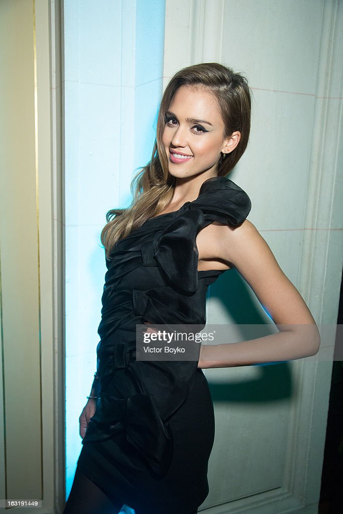 Jessica Alba attends 'CR Fashion Book Issue 2' - Carine Roitfeld Cocktail as part of Paris Fashion Week at Hotel Shangri-La on March 5, 2013 in Paris, France.