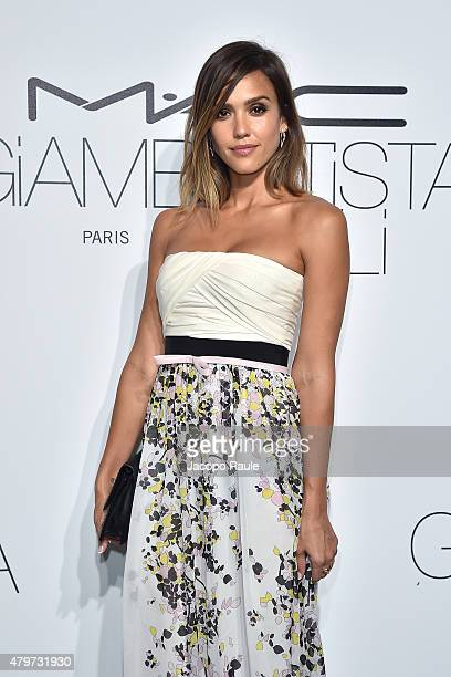 Jessica Alba attends MAC Cosmetics Giambattista Valli Floral Obsession Ball In Paris at Opera Garnier on July 6 2015 in Paris France