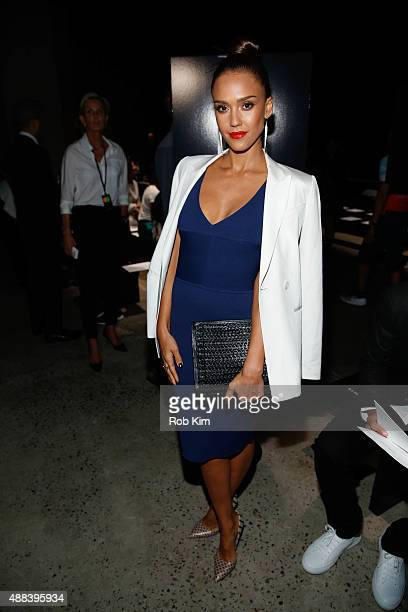 Jessica Alba attends Narciso Rodriguez fashion show during Spring 2016 New York Fashion Week at SIR Stage37 on September 15 2015 in New York City