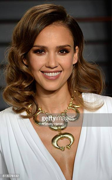 Jessica Alba attends the 2016 Vanity Fair Oscar Party hosted By Graydon Carter at Wallis Annenberg Center for the Performing Arts on February 28 2016...