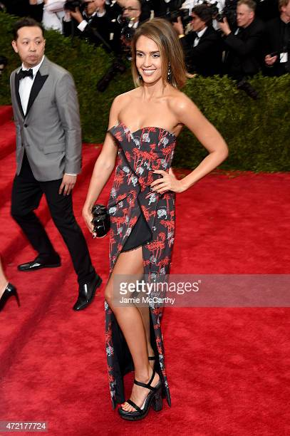 Jessica Alba attends the 'China Through The Looking Glass' Costume Institute Benefit Gala at the Metropolitan Museum of Art on May 4 2015 in New York...