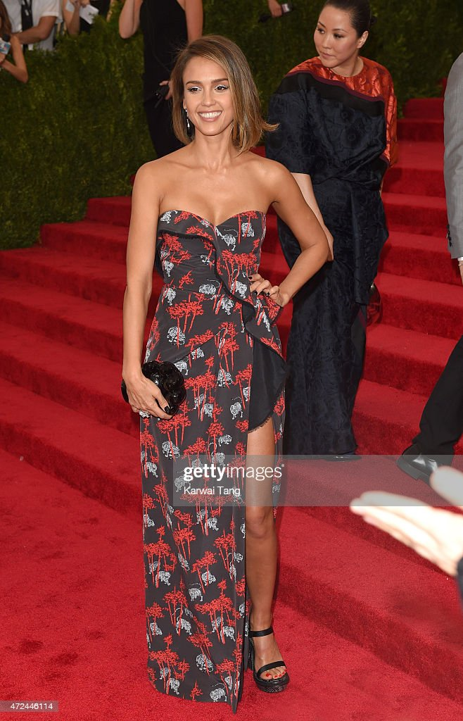 Jessica Alba attends the 'China Through The Looking Glass' Costume Institute Benefit Gala at Metropolitan Museum of Art on May 4 2015 in New York City