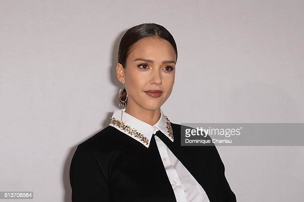 Jessica Alba attends the Christian Dior show as part of the Paris Fashion Week Womenswear Fall/Winter 2016/2017 on March 4 2016 in Paris France