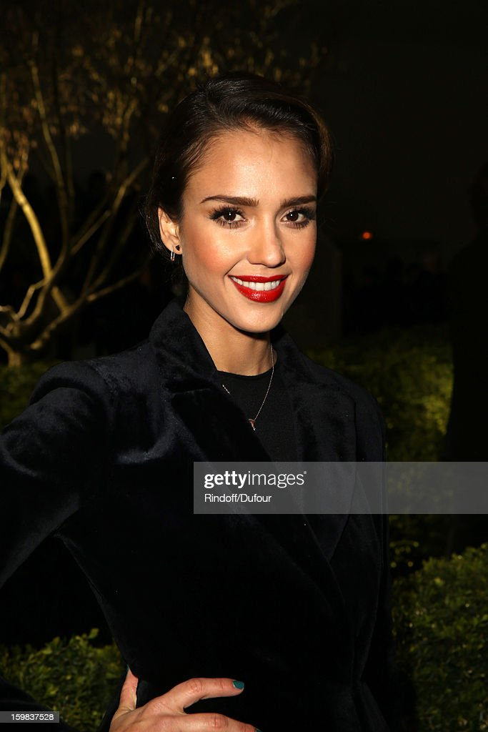 <a gi-track='captionPersonalityLinkClicked' href=/galleries/search?phrase=Jessica+Alba&family=editorial&specificpeople=201811 ng-click='$event.stopPropagation()'>Jessica Alba</a> attends the Christian Dior Spring/Summer 2013 Haute-Couture show as part of Paris Fashion Week at on January 21, 2013 in Paris, France.