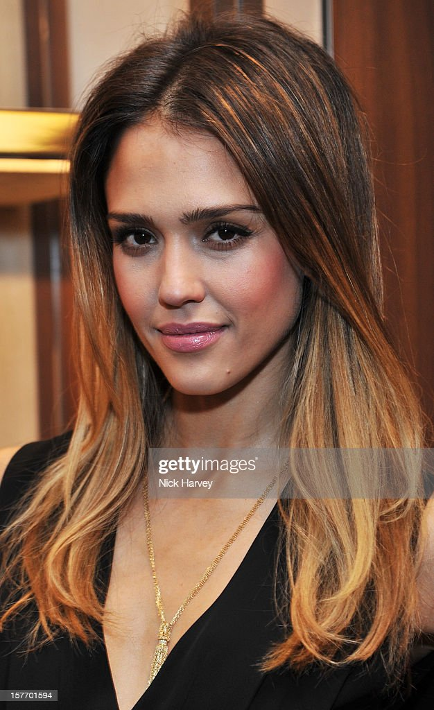 Jessica Alba attends the flagship store launch of Salvatore Ferragamo's Old Bond Street Boutique at 24 Old Bond Street on December 5, 2012 in London, England.