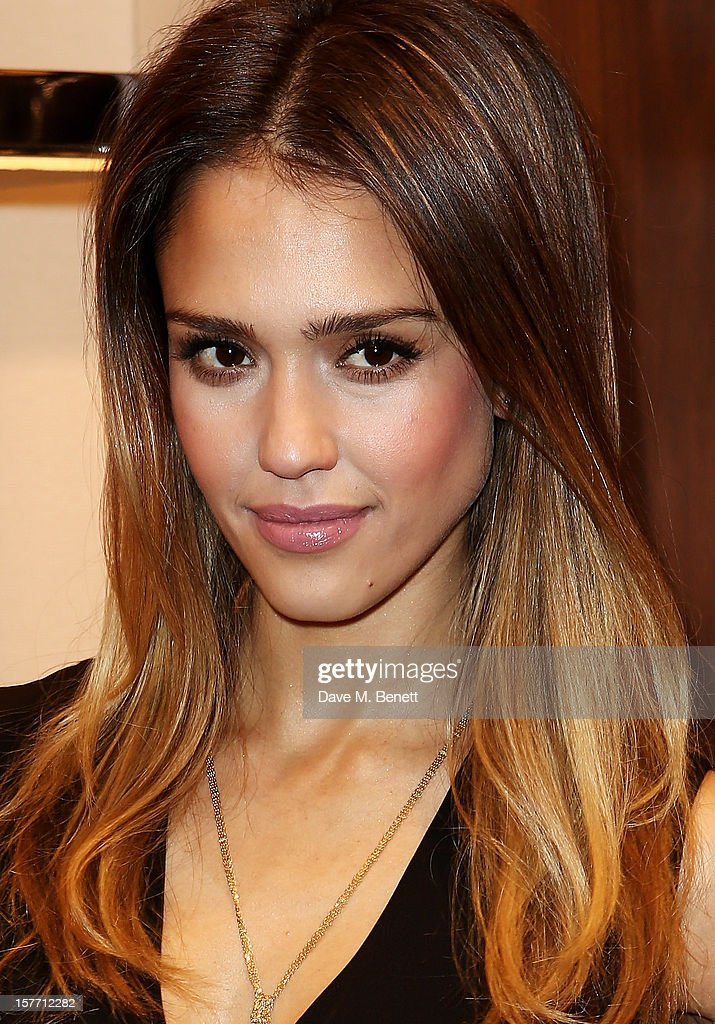 Jessica Alba attends the launch of the Salvatore Ferragamo London Flagship Store on Old Bond Street on December 5, 2012 in London, England.