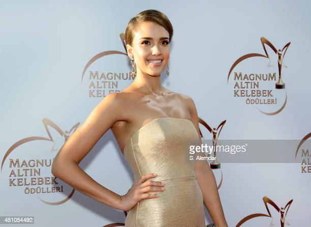 Jessica Alba attends the Magnum Golden Butterfly Awards at Zorlu Center on June 22 2014 in Istanbul Turkey