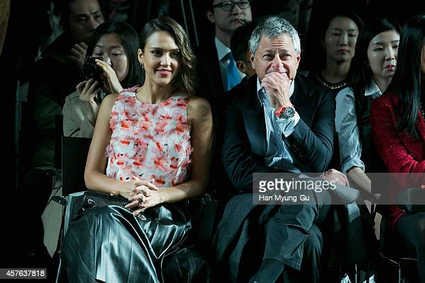 Jessica Alba attends the Metrocity 2015 S/S Collection show as part of Seoul Fashion Week S/S 2015 at DDP on October 21 2014 in Seoul South Korea