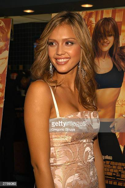 Jessica Alba attends the premiere of 'Honey' November 24 2003 at the Chelsea West Theater in New York City