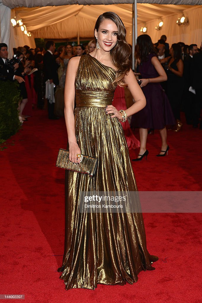<a gi-track='captionPersonalityLinkClicked' href=/galleries/search?phrase=Jessica+Alba&family=editorial&specificpeople=201811 ng-click='$event.stopPropagation()'>Jessica Alba</a> attends the 'Schiaparelli And Prada: Impossible Conversations' Costume Institute Gala at the Metropolitan Museum of Art on May 7, 2012 in New York City.