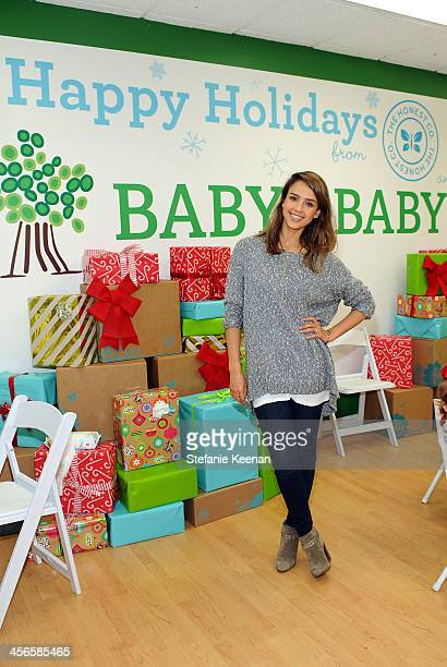 Jessica Alba attends the Third Annual Baby2Baby Holiday Party presented by The Honest Company on December 14 2013 in Los Angeles California
