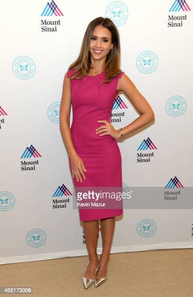 Jessica Alba attends the unveiling of The Honest Company Ultra Clean Room at The Mount Sinai Hospital on September 10 2014 in New York City