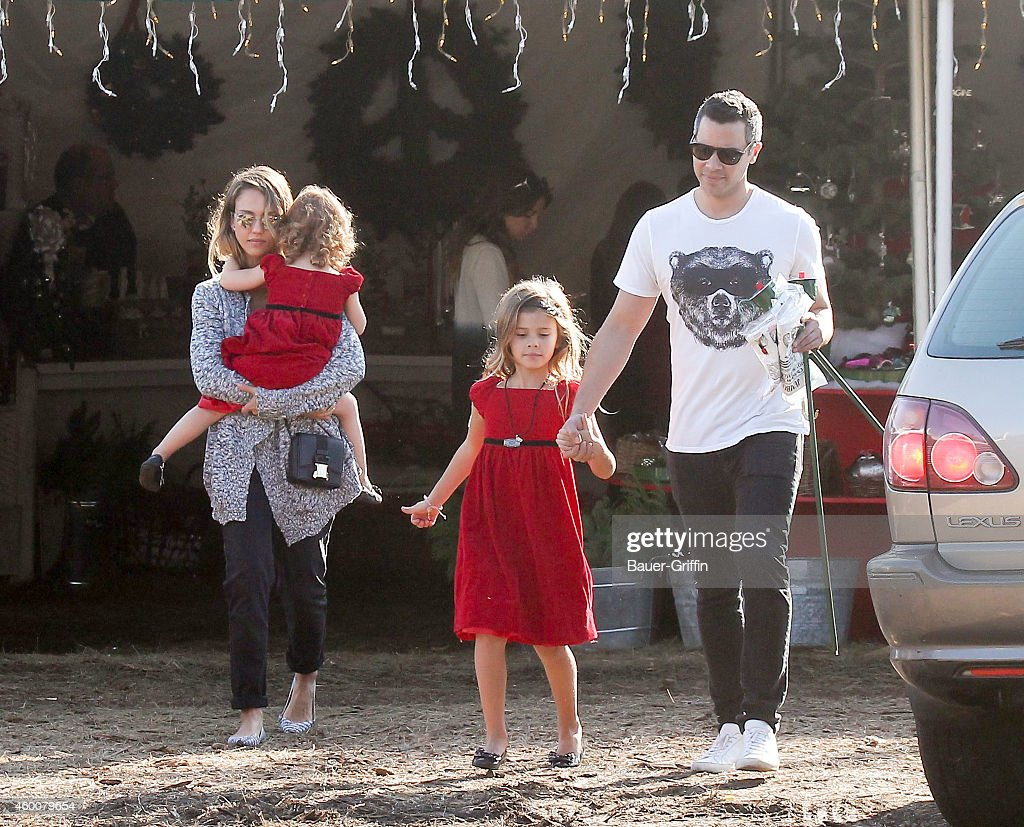Jessica Alba Cash Warren Haven Warren and Honor Warren are seen on December 06 2014 in Los Angeles California