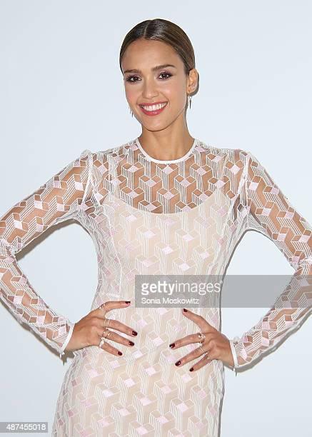 Jessica Alba celebrates the launch of Honest Beauty at the Trump SoHo Hotel on September 9 2015 in New York City