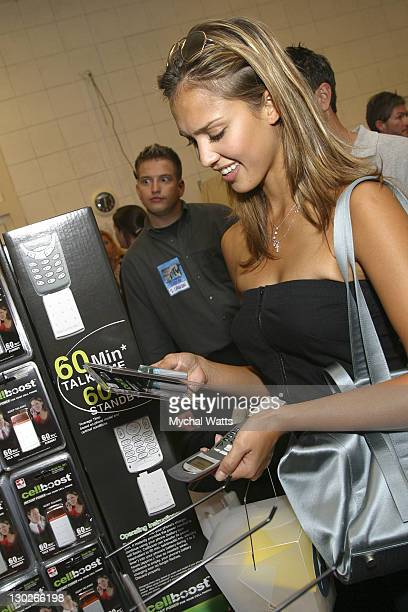 Jessica Alba during 2003 MTV Video Music Awards Backstage Creations Day 2 at Radio City Music Hall in New York City New York United States