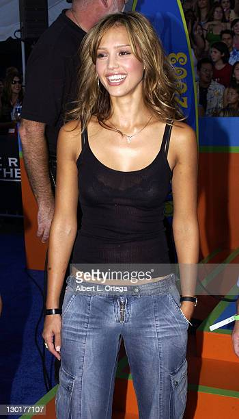 Jessica Alba during 2003 Teen Choice Awards Arrivals at Universal Amphitheatre in Universal City California United States