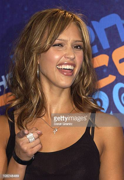Jessica Alba during 2003 Teen Choice Awards Press Room at Universal Amphitheatre in Universal City California United States