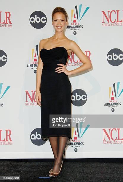Jessica Alba during 2006 NCLR ALMA Awards Press Room at Shrine Auditorium in Los Angeles California United States