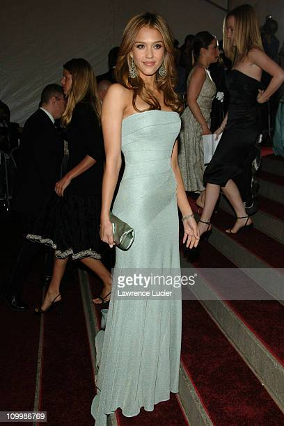 Jessica Alba during AngloMania Costume Institute Gala at The Metropolitan Museum of Art Arrivals Celebrating AngloMania Tradition and Transgression...
