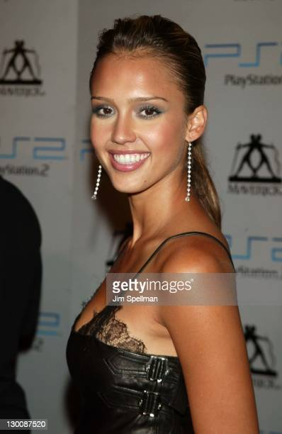 Jessica Alba during Hollywood Takes A Bite Out of The Big Apple as Guy Oseary and Playstation2 Celebrate The 2003 VMAs Arrivals at The Four Seasons...