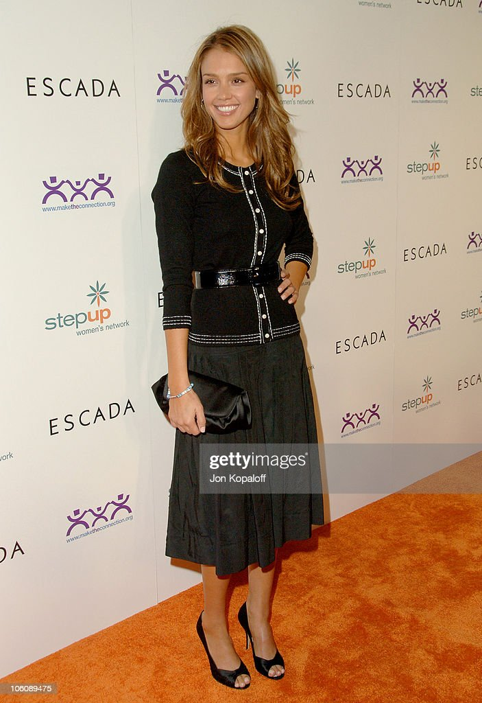 Jessica Alba during Step Up Women's Network Inspiration Awards Sponsored by Escada - Arrivals at Beverly Hilton Hotel in Beverly Hills, California, United States.