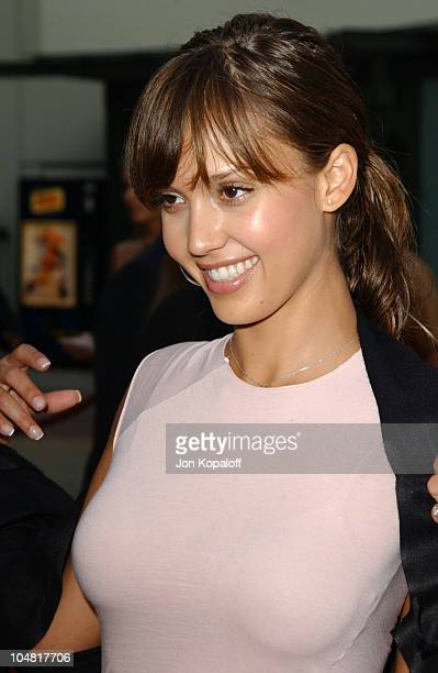Jessica Alba during 'The Italian Job' Premiere Red Carpet Arrivals at Mann's Chinese Theater in Hollywood California United States