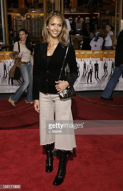 Jessica Alba during The World Premiere Of 'The Rundown' at Universal Amphitheatre in Universal City CA United States