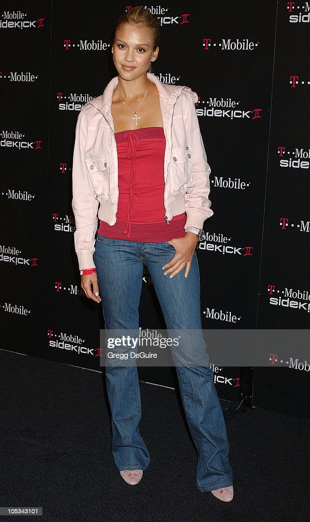 Jessica Alba during 'TMobile Sidekick II' Launch Party Arrivals at The Grove in Los Angeles California United States